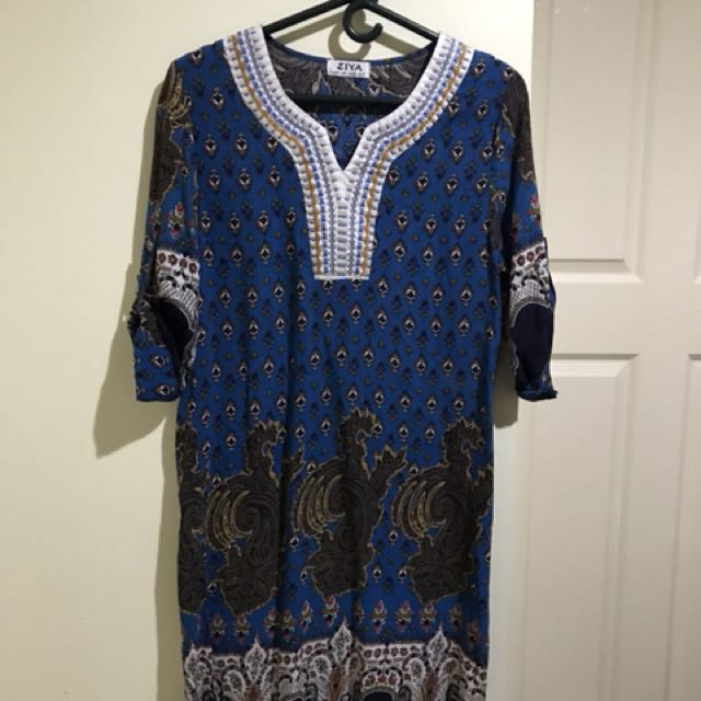 Ziya ethnic patterned dress