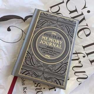 5-year memory journal (from Indigo)