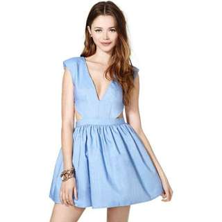 INAUTHENTIC Nasty Gal Cutout V Neck Dress