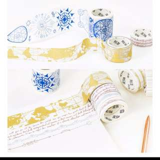 Gold Foil Earth Series Washi Tape