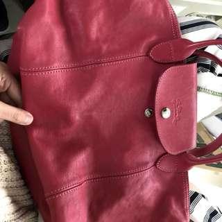 Longchamp 小羊皮 八成新 防塵 購證