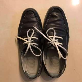 Pedro 深藍色休閑皮鞋