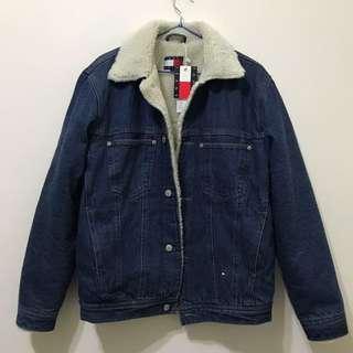 Tommy 牛仔外套 羔羊毛外套 毛領 復古 正品 稀有 保暖