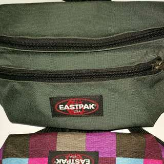 Eastpak Waist Pouch Doggy Bum Bag Canvas outer Adjustable body strap Secure clasp fastening Zip closure External zip pocket Deployment capacity 3L Good ease of use Belt length is adjustable Angled in at bottom