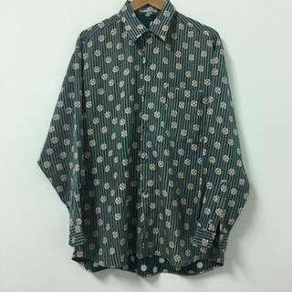 Vintage 古著花襯衫(女生可當oversize)