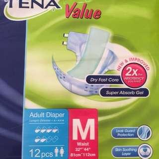 Tena Adult Diaper (size: m, 5 pkts x 12 pcs/pkt)