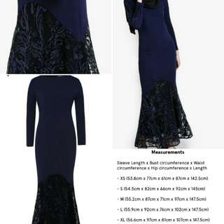 Zalia Sequins Pieced Mermaid Dress