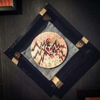骷髏蜘蛛 skull spider, wooden art piece
