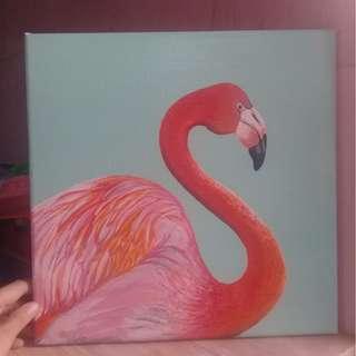 Flamingo Acrylic Painting