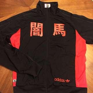 二手出清*男 Adidas original ADICOLOR R3 Dark Horse 闇馬 限量版兩面穿運動外套  XL