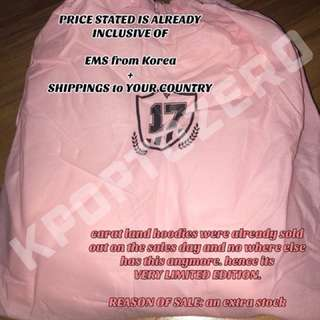 SEVENTEEN CARAT LAND PINK LIMITED EDITION HOODIE