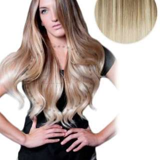 "BALAYAGE 160G 20"" OMBRÉ HAIR EXTENSIONS #8 ASH BROWN/ #60 ASH BLONDE"