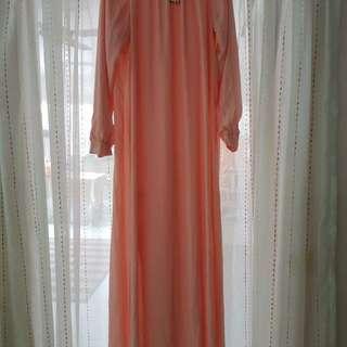 Zalia Pleated Neckline Dress