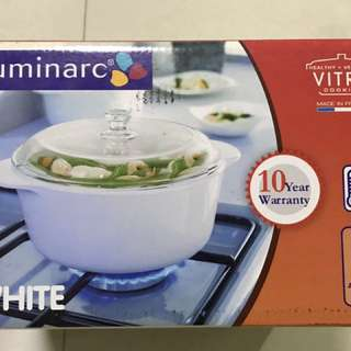 Luminarc VITRO 2.4L White casserole