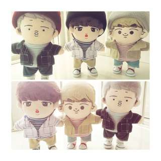 BTS 20CM Doll Outfits ,Beanie,Pants