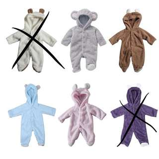 Baby bear cotton rompers