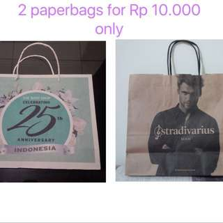 Paperbags Body Shop + Stradivarius small for Rp 10.000
