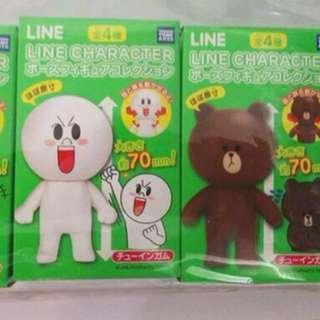 Line Friends 盒玩 3款選擇 ( Cony Moon 兔兔 饅頭人)