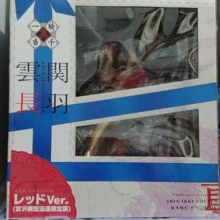 真一騎當千 關羽雲長 絲帶 禮物盒 紅 宮沢模型 日版