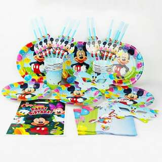 Mickey Mouse Theme Birthday Party Supplies for 12