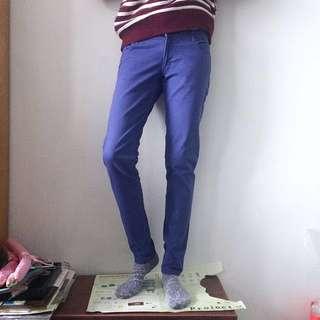 JAY JAYS牛仔斜紋色褲 紫
