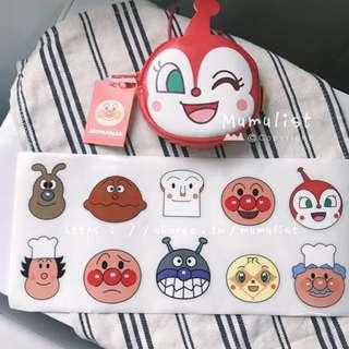 ⭐️現貨免運⭐️ 療癒系 可愛筆記本貼紙 裝飾貼紙 麵包超人 阿卡醬 行李箱貼紙