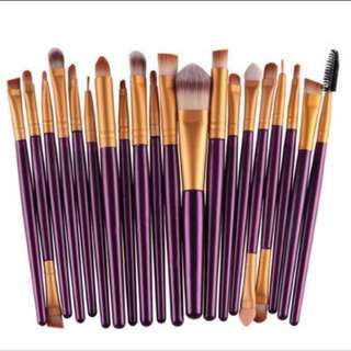 20 Pcs Make Up Brush Set
