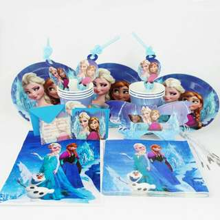 Frozen Theme Party Supplies For 12