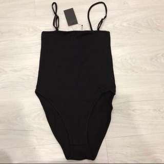 BNWT Black Spag Bodysuit