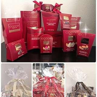 👑Godiva Chocolate Gift Basket 🍩🍫 👑Godiva 重量裝朱古力籃🍫💗