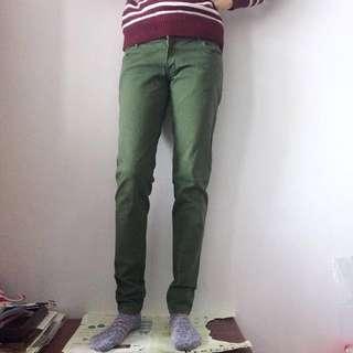 JAY JAYS牛仔斜紋色褲 綠