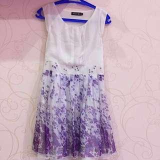 Dress pesta - merk Marloca Ungu size M