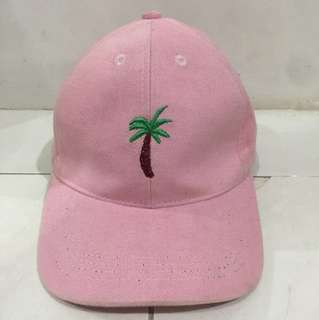 topi bordir palm tree