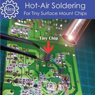 Hot Air Soldering Service (Part 4) -  SMD , SMT , Surface Mounted Chips Repair