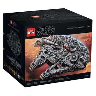 全新未開封 Lego 75192 Millennium Falcon 千歲鷹號 Star Wars