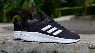 Adidas original 100% questar ride black white murah