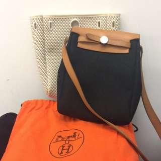 Hermes Herbag Mini Crossbody Bag (Brown) (PRICE MARKDOWN)