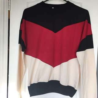 Retro Color-block Pullover
