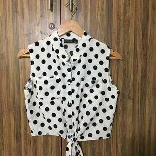 Dotted blouse from Primadonna
