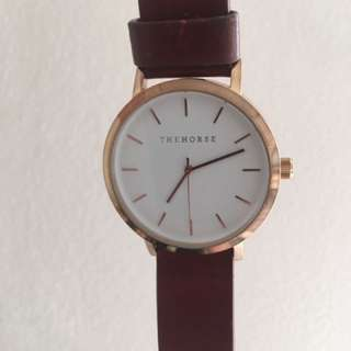 The Horse watch rose gold and tan