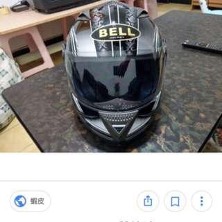 M2R Bell GEO-PRO 雙鏡片 黑 白線條花紋 全罩式 安全帽