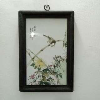 Jengdezhen Wall Painting Bird