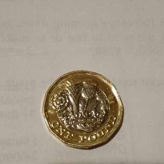 英國新硬幣一英鎊