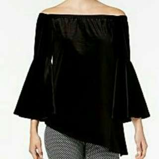 NYC Collection Off the Shoulder Velvet Blouse