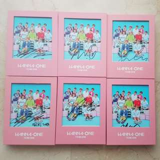 WTS WTT wanna one mwave signed albums pink version