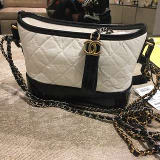 Chanel Gabrielle small size 黑白拼色手袋