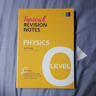 O Level Physics Topical Revision Notes