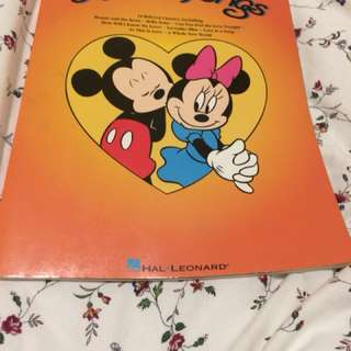 Disney songs music book
