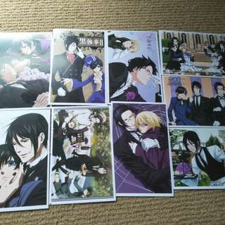 Black Butler postcards