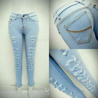 Light Full Tattered Denim
